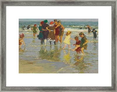 Beach Scene Framed Print by Edward Henry Potthast