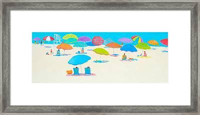 Beach Scene - Happy Times And Sunshine Framed Print by Jan Matson