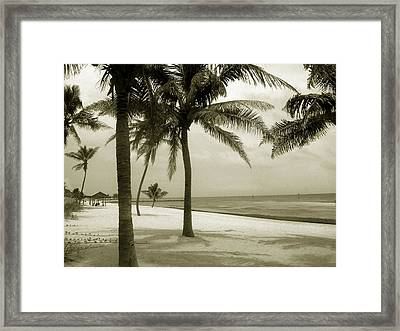 Beach Scene In Key West Framed Print