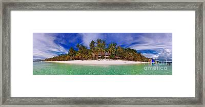 Beach Scene Framed Print by Joerg Lingnau