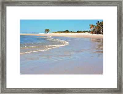 Beach Scene Framed Print by Lisa Wooten