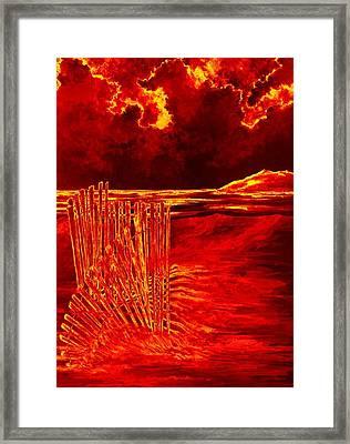 Beach Scene Framed Print by Michael Vigliotti