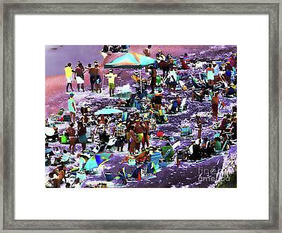 Beach Scene Solarized Framed Print by Jeff Breiman
