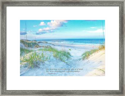 Beach Scripture Verse  Framed Print by Randy Steele