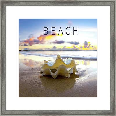 Beach. Framed Print