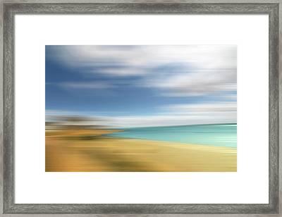 Beach Seascape Abstract Framed Print by Gill Billington