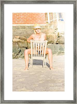 Beach Seating Framed Print by Jorgo Photography - Wall Art Gallery