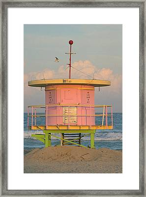 Beach Shack Framed Print by Donald Tusa