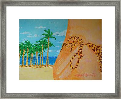 Beach Side View Framed Print