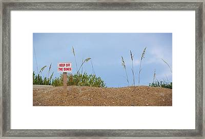 Beach Signs Framed Print by JAMART Photography