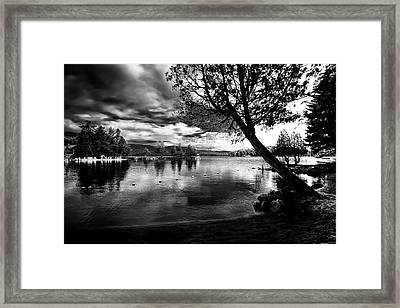 Framed Print featuring the photograph Beach Silhouette by David Patterson