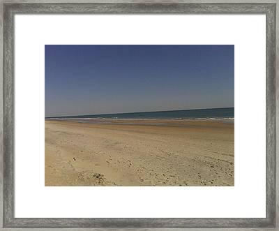 Beach Solitutde Framed Print by Al Smith