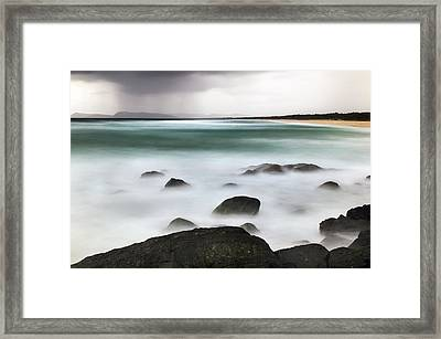 Beach Squall Framed Print