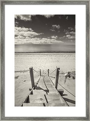 Beach Stairs Wellfleet Framed Print by Dapixara Art