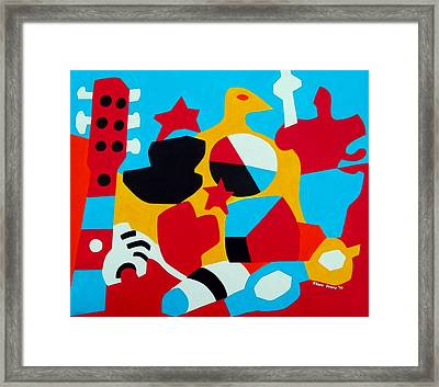 Beach Still Life Framed Print by Stephen Davis