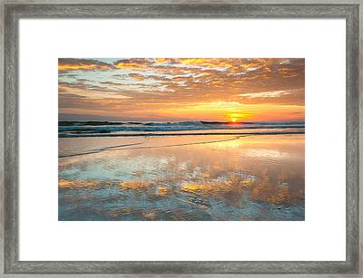 Beach Sunrise - Cape Hatteras National Seashore North Carolina Framed Print by Mark VanDyke