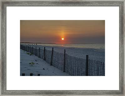 Beach Sunrise - Cape May Framed Print by Bill Cannon