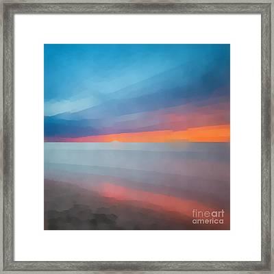 Beach Sunset Abstract 2 Framed Print by Edward Fielding