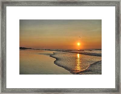 Topsail Nc Beach Sunrise Framed Print