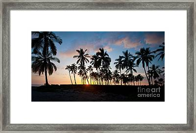Beach Sunset Framed Print by Mike Reid