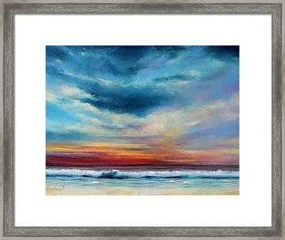 Beach Sunset Framed Print by Prashant Shah
