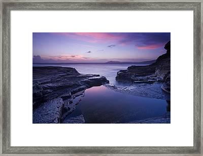 Beach Sunset Framed Print by Zarija Pavikevik