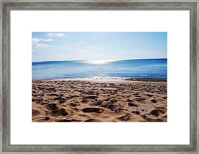Beach Framed Print by Susette Lacsina