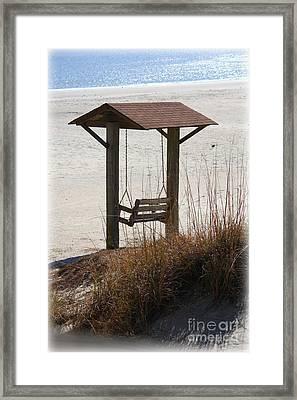 Beach Swing Framed Print