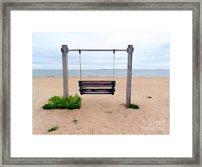 Beach Swing Framed Print