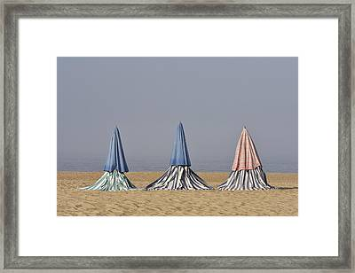 Beach Tents Framed Print
