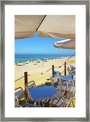 Beach Terrace Framed Print by Carlos Caetano