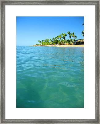 Beach Texture. Framed Print by Andy Za
