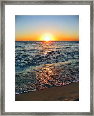 Beach Texture. Sun, Framed Print by Andy Za