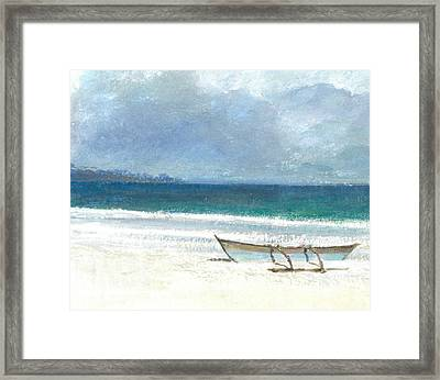 Beach Thalassa Framed Print by Lincoln Seligman