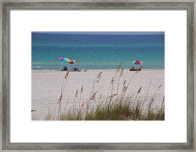 Beach Time At The Gulf - Before The Oil Spill Disaster Framed Print by Susanne Van Hulst