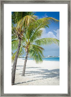 Beach Time In Turks And Caicos Framed Print by Mike Ste Marie