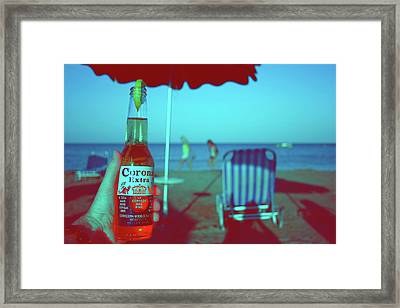 Beach Time Framed Print