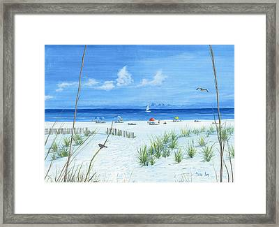 Framed Print featuring the painting Beach Time by Mike Ivey