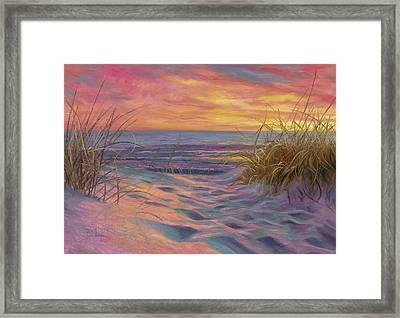 Beach Time Serenade Framed Print