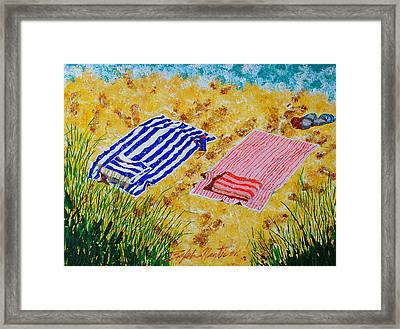Beach Towels  Framed Print