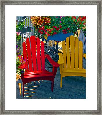 Beach Town Charm Framed Print by Marie Hicks