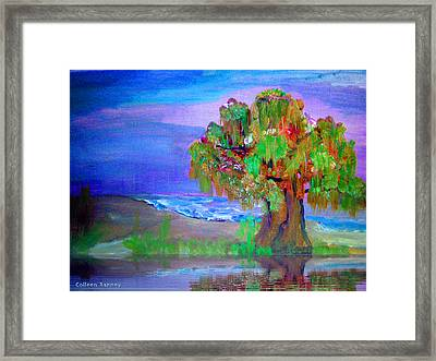 Beach Tree Framed Print