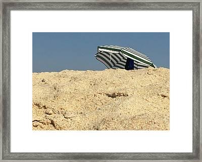 Beach Umbrella Framed Print by Contemporary Art