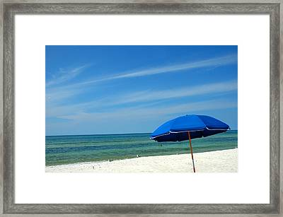 Beach Umbrella Framed Print by Susanne Van Hulst