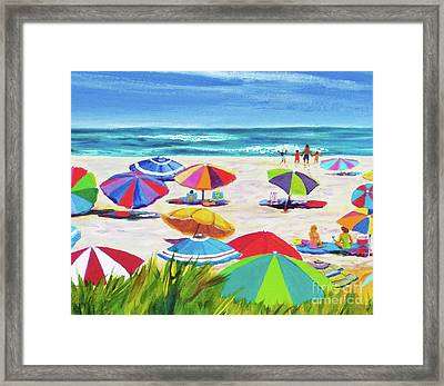 Umbrellas 2 Framed Print by Anne Marie Brown