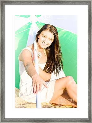 Beach Vacation Framed Print