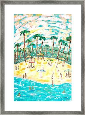 Beach Framed Print by Van Winslow