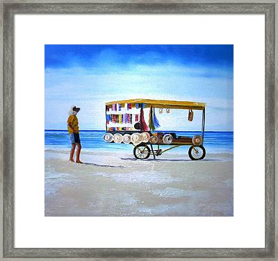 Beach Vendor Framed Print