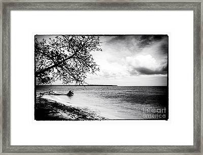 Beach View At Zapatillas Framed Print by John Rizzuto