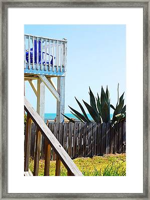 Beach View Framed Print by Harrison Cooper